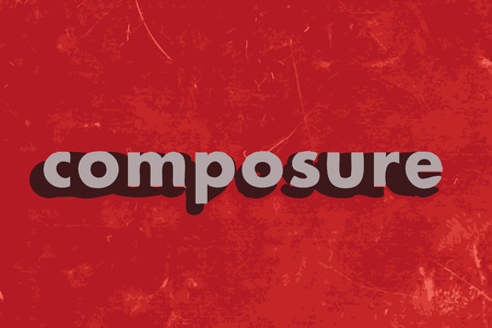 composure: composure vector word on red concrete wall Illustration