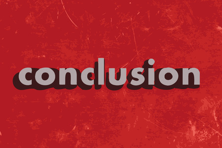 conclusion: conclusion vector word on red concrete wall Illustration