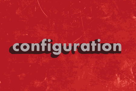 configuration: configuration vector word on red concrete wall