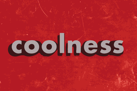 coolness: coolness vector word on red concrete wall