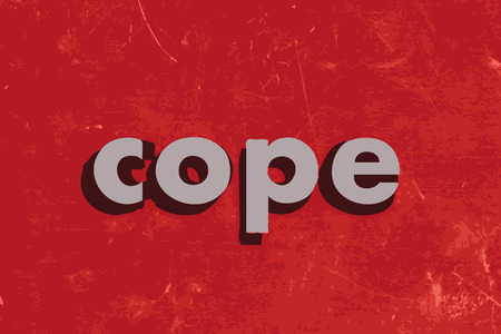 cope: cope vector word on red concrete wall