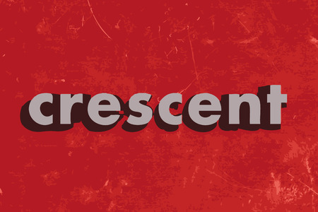 crescent: crescent vector word on red concrete wall