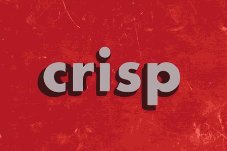 crisp: crisp vector word on red concrete wall Illustration
