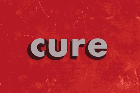gu�rir: gu�rir mot de vecteur sur le mur de b�ton rouge