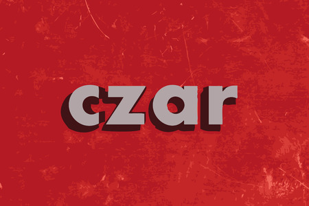 czar: czar vector word on red concrete wall Illustration