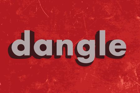 dangle: dangle vector word on red concrete wall