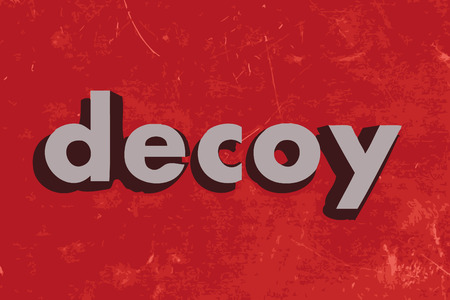 decoy: decoy vector word on red concrete wall Illustration