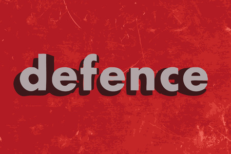 defence: defence vector word on red concrete wall Illustration