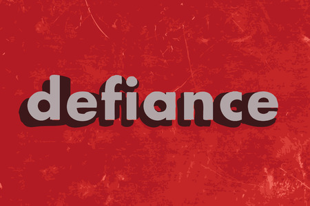 defiance: defiance vector word on red concrete wall