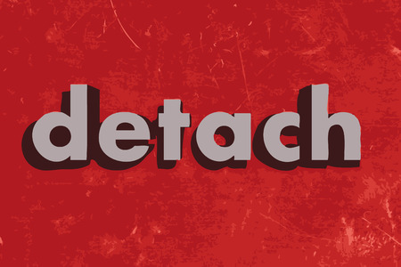 detach: detach vector word on red concrete wall Illustration
