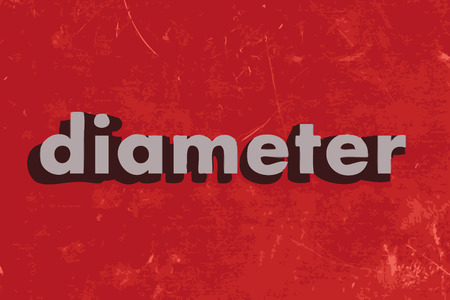 diameter: diameter vector word on red concrete wall Illustration