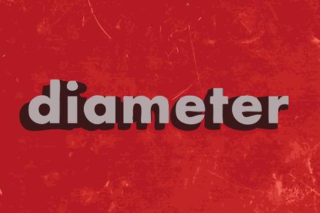 diameter: Diametro di vettore di parola sul muro di cemento rosso
