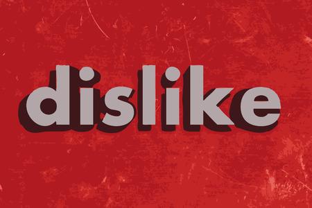 no gustar: no les gusta la palabra vector en rojo muro de hormig�n