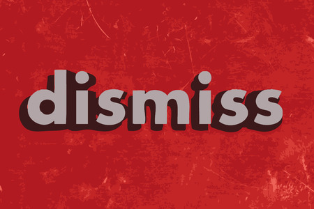 dismiss: dismiss vector word on red concrete wall Illustration