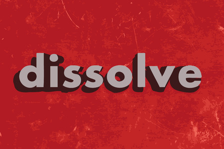 dissolve: dissolve vector word on red concrete wall