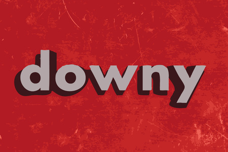 downy: downy vector word on red concrete wall