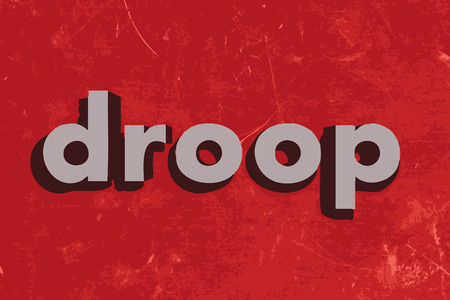 droop: droop vector word on red concrete wall Illustration