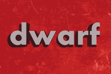 dwarf: dwarf vector word on red concrete wall