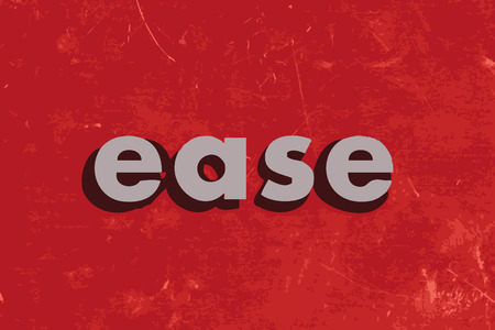 ease: ease vector word on red concrete wall Illustration