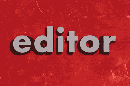 editor: editor vector word on red concrete wall