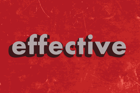 effective: effective vector word on red concrete wall