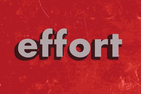 effort: effort vector word on red concrete wall