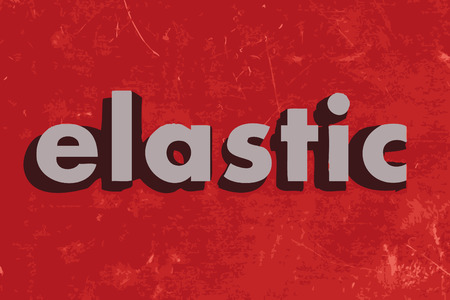 on elastic: elastic vector word on red concrete wall