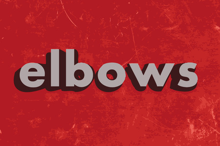 elbows: elbows vector word on red concrete wall Illustration