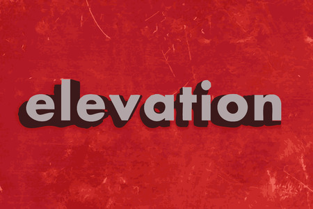elevation: elevation vector word on red concrete wall Illustration