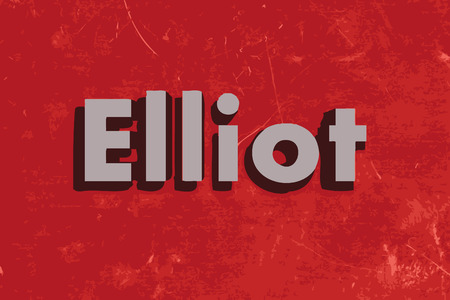 elliot: Elliot vector word on red concrete wall