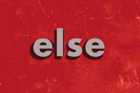 else: else vector word on red concrete wall
