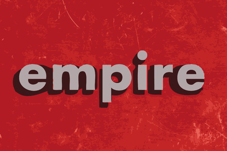 empire: empire vector word on red concrete wall