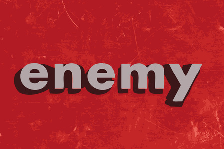 enemy: enemy vector word on red concrete wall Illustration