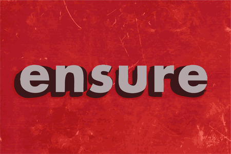 ensure vector word on red concrete wall