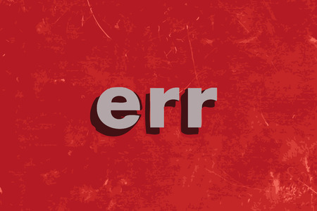 err: err vector word on red concrete wall