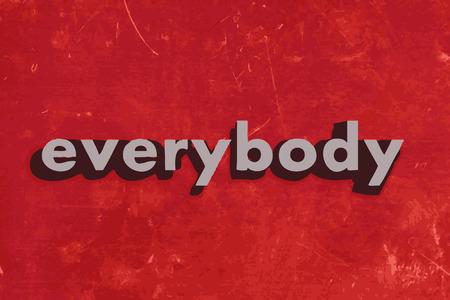 palabra a todo el mundo del vector en rojo muro de hormigón
