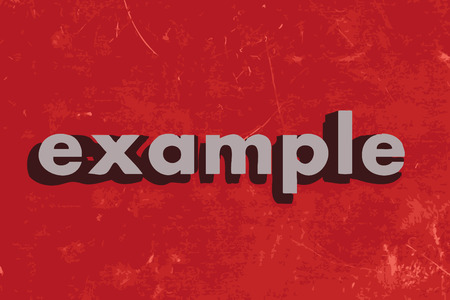 example: example vector word on red concrete wall