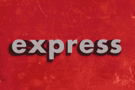 express: express vector word on red concrete wall