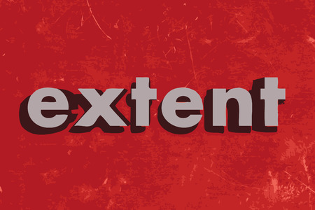 extent: extent vector word on red concrete wall