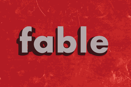fable: fable vector word on red concrete wall