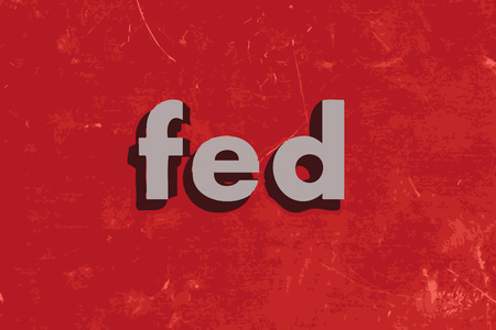 are fed: fed vector word on red concrete wall Illustration