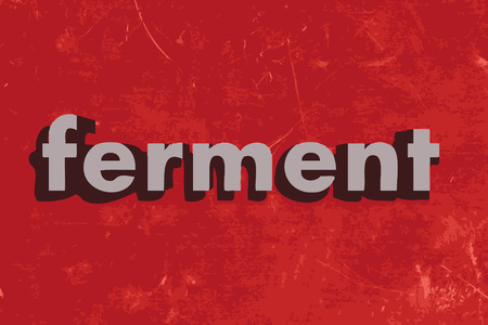ferment: ferment vector word on red concrete wall