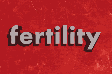 fertility vector word on red concrete wall Illustration