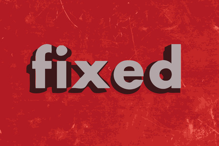 fixed: fixed vector word on red concrete wall