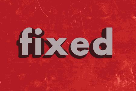 fixed vector word on red concrete wall Vektoros illusztráció
