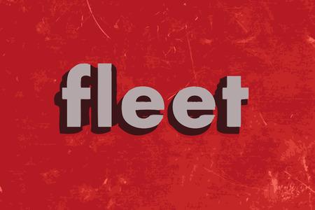 fleet: fleet vector word on red concrete wall Illustration