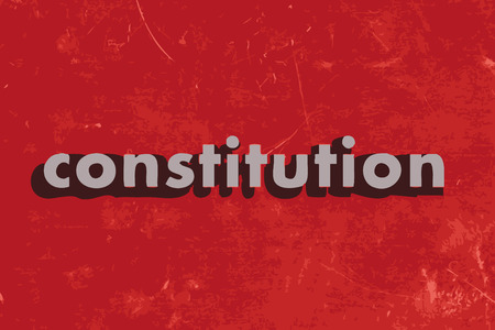 constitution: constitution vector word on red concrete wall