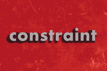 constraint: constraint vector word on red concrete wall