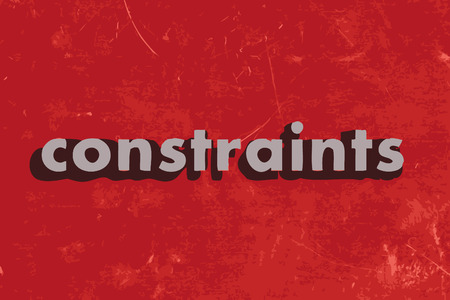 constraints: constraints vector word on red concrete wall