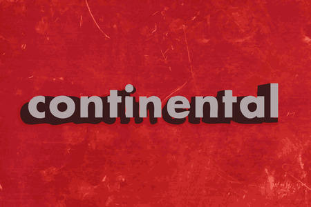 continental: continental vector word on red concrete wall Illustration
